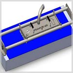 Steamflex® : Custom steam cleaning unit for conveyor